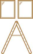 高所設置窓の清掃サービス